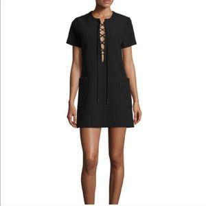 Kendall + Kylie Black lace up mini dress